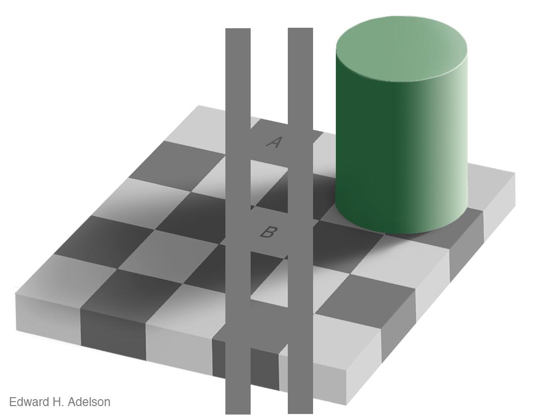 Ответ на иллюзию контраста